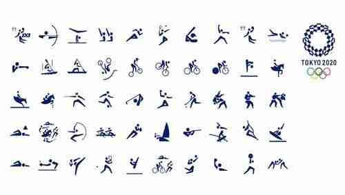 Pictogramas olímpicos en movimiento para Tokio 2020